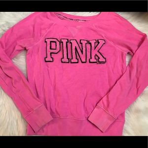 Ladies pink Victoria's Secret Sweatshirt